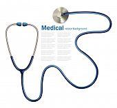 Stethoscope. Vector