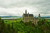 The castle of Neuschwanstein in Bavaria, Germany.
