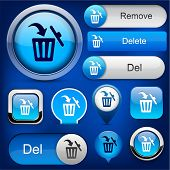 pic of dustbin  - Dustbin blue design elements for website or app - JPG