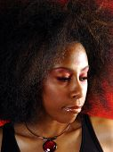 picture of afro hair  - moody portrait - JPG