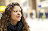 Attractive young woman in positive thought