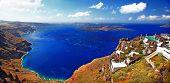 amazing Santorini. Panoramic view from  Imerovigli village