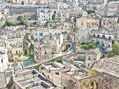 Panoramic View Of Stones Of Matera