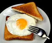 Fried Egg With Toast