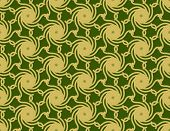 Gold Cyclone On Green Pattern