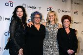 LOS ANGELES - MAR 14:  Laura Prepon, Jenji Kohan, Taylor Schilling, Kate Mulgrew at the PaleyFEST -