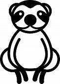 Cute animal sloth - illustration