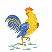 stock photo of roosters  - Rooster vector illustration eps 8  without gradients - JPG