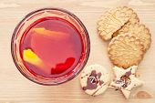Juice With Lemon And Cookies