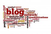 Blog concept word cloud image