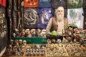 Man With His Skulls At Cartoomics 2014 In Milan, Italy