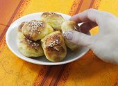 Salty Potato Pastry With Sesame