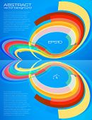 Abstract perspective colorful circles leaflet