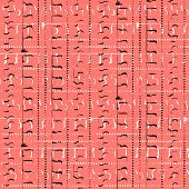 Vector grunge pattern with random abstract lines