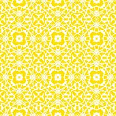 Vector geometric art deco pattern in bright yellow