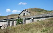 stock photo of azov  - Ruins ancient old securely fastened and hidden military fort - JPG