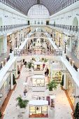 MOSCOW, RUSSIA - DEC 1, 2013: Petrovsky Passage with Christmas decorations. Petrovsky Passage opening happened in 1906.