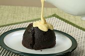 Dark Chocolate Sponge And Custard