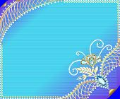 Frame Background With Precious Stones And Ornaments Of Gold
