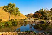 Lake in Tumuli Park in Gyeongju