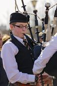 Young Irish Bagpiper
