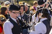 Young Bagpipers At St. Patrick's Day Parade