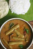 Drumstick Sambar - A lentil soup from Tamilnadu