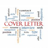 image of summary  - Cover Letter Word Cloud Concept with great terms such as interview resume summary and more - JPG