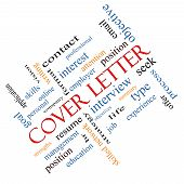 Cover Letter Word Cloud Concept Angled
