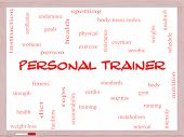 Personal Trainer Word Cloud Concept On A Whiteboard
