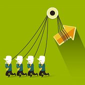 Flat Design Illustration Concept Of Teamwork