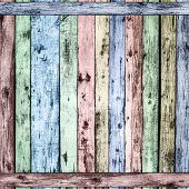 Background texture of colorful wooden lining boards wall