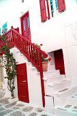 Traditional Greek House On Mykonos Island, Greece