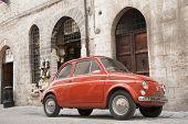 Orange Fiat 500