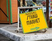 Nassau Straw Market Sign