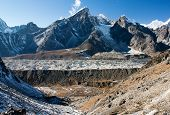 Khumbu Glacier And Lobuche Peak From Kongma La Pass - Trek To Everest Base Camp - Nepal