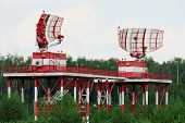 NIZHNY NOVGOROD. RUSSIA. JULY 31, 2014. STRIGINO AIRPORT. Radar station of civil aviation