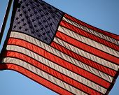 American Flag Backlit
