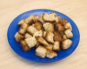 The Fried Croutons With Garlic