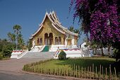 Buddhist Temple In The Palace Grounds In Luang Prabang