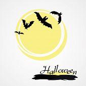 Halloween bat and sun