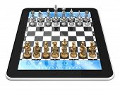 Metal Chess & Tablet Computer