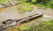 picture of hydro-electric  - Mae Suai hydro power dam in Chiang Rai Thailand - JPG