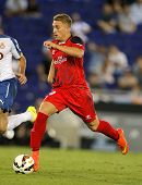 BARCELONA - AUG, 30: Gerard Deulofeu of Sevilla FC during spanish league match against Espanyol at t