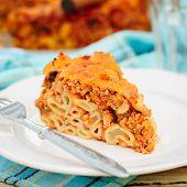 A Piece Of Bolognese Pasta Bake