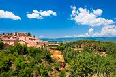 Roussillon Village Near Gordes, Provence, France