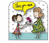 stock photo of i love you mom  - Mother - JPG