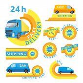 Delivery car set