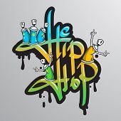 Graffiti word characters print