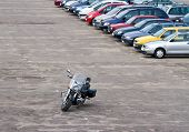 Motorbike On Parking Lot